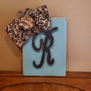 """Hand made letter """"R"""" wall art"""